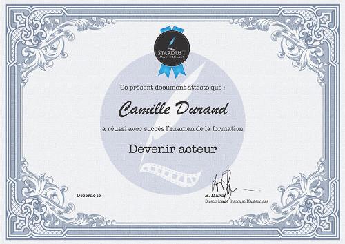 Certificat formation Acteur