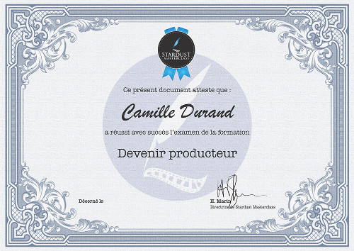 Certificat Devenir Producteur