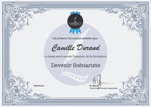 Certificat Formation Scénariste